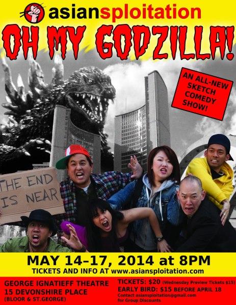 Asiansploitation's Oh My Godzilla Show Poster