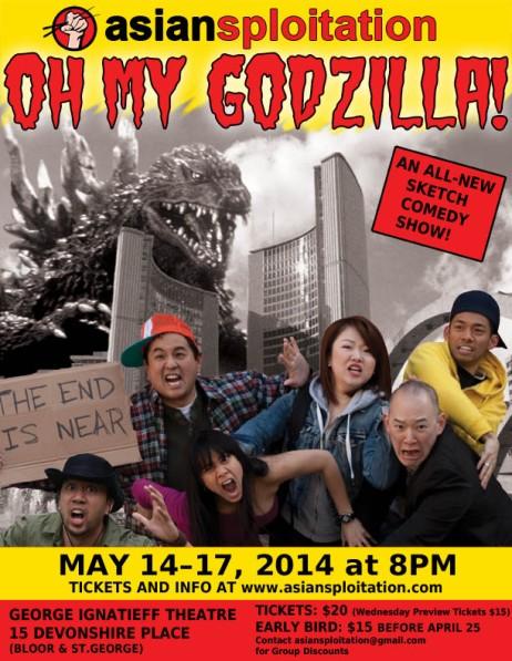 Asiansploitation Oh My Godzilla Show Poster
